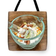 Mortar And Pestle With Drugs Tote Bag