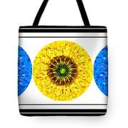 Mosaic Blue Circles With Yellow Tote Bag