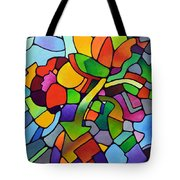 Mosaic Bouquet Tote Bag