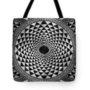 Mosaic Circle Symmetric Black And White Tote Bag