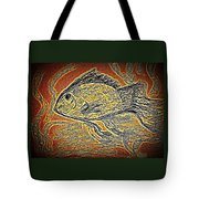 Mosaic Goldfish In Charcoal Tote Bag