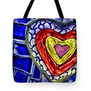 Mosaic Heart By Diana Sainz Tote Bag