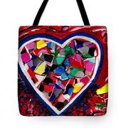 Mosaic Heart Tote Bag