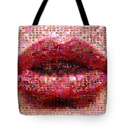 Mosaic Lips Tote Bag by Gina Dsgn