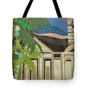 Mosaic Of Church With Palm Tree Tote Bag