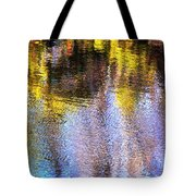 Mosaic Reflection At The River Tote Bag