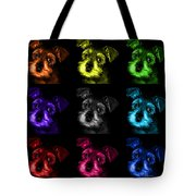 Mosaic Salt And Pepper Schnauzer Puppy Pop Art 7206 F -bb Tote Bag