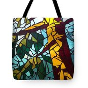 Mosaic Stained Glass - First Tree Tote Bag by Catherine Van Der Woerd