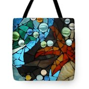 Mosaic Stained Glass - Low Tide Tote Bag