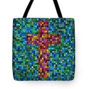 Mosaic Tile Cross Tote Bag