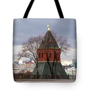 Moscow As Viewed From The Kremlin - Square Tote Bag