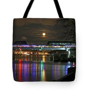 Moscow At Night In Winter Tote Bag