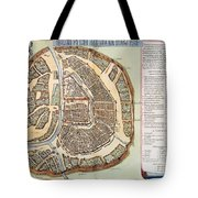 Moscow: Map, 1662 Tote Bag