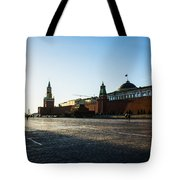 Moscow Red Square From North-west To South-east Tote Bag