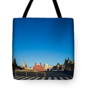 Moscow Red Square From South-east To North-west - Square Tote Bag
