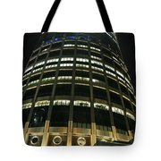 Moscow Skyscraper Night Tote Bag