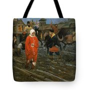 Moscow Street On A Public Holiday Tote Bag