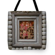 Moses And The Quail - Framed Tote Bag