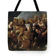 Moses And The Water From The Stone Tote Bag