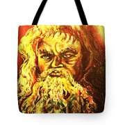 Moses At The Burning Bush Tote Bag