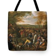 Moses Striking The Rock Tote Bag
