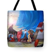 Moses Through The Red Sea Tote Bag