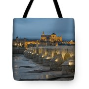 Mosque Cathedral Of Cordoba Also Called The Mezquita And Roman Bridge Tote Bag