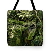 Moss And Stones By The Turquoise Forest Pond On A Summer Day No4 Tote Bag