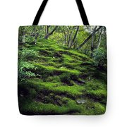 Moss Forest In Kyoto Japan Tote Bag