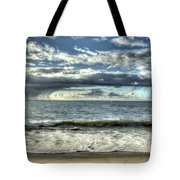 Moss Landing In The Clouds Tote Bag