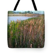 Moss Landing Washington North Carolina Tote Bag by Joan Meyland
