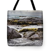 Moss Rocks Hawaii Tote Bag