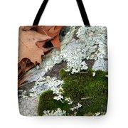 Mossy Leaves Tote Bag