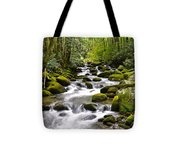 Mossy Mountain Stream Tote Bag