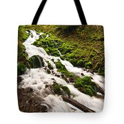 Mossy River Flowing. Tote Bag