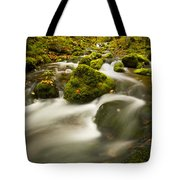 Mossy Rocks Along Lavis Brook In The Tote Bag