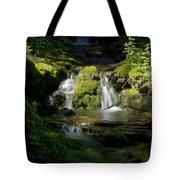 Mossy Rocks Waterfall 1 Tote Bag