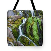 Mossy Waterfall At Snow Lake Tote Bag