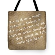 Most Beautiful Three Tote Bag