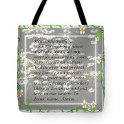 Most Powerful Prayer With Daisies Tote Bag