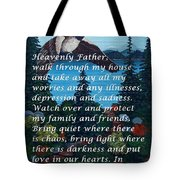 Most Powerful Prayer With Goose Flying And Autumn Scene Tote Bag