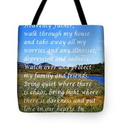 Most Powerful Prayer With Irises Tote Bag