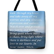 Most Powerful Prayer With Ocean View Tote Bag