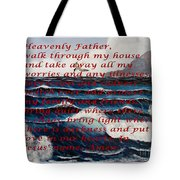Most Powerful Prayer With Ocean Waves Tote Bag