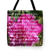 Most Powerful Prayer With Peony Bush Tote Bag
