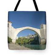 Mostar Bridge In Bosnia Tote Bag