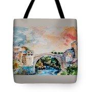 Mostar Bridge Tote Bag