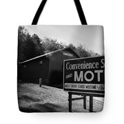 Motel Sign In Black And White Tote Bag
