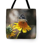 Moth And Flower Tote Bag