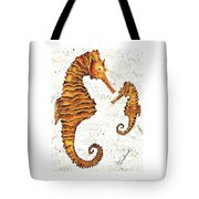 Mother And Baby Seahorse Tote Bag